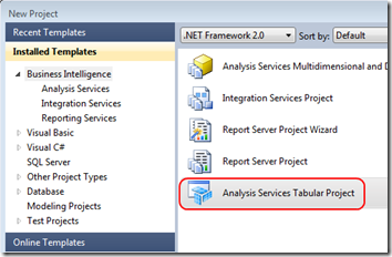 Analysis Services Tabular Project