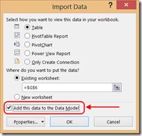 Ajouter au modèle de données